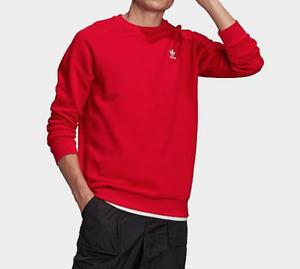 adidas Originals Sweatshirt Mens New Trefoil French Terry Crewneck Scarlet Red