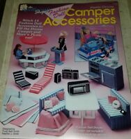 AL078 THE NEEDLECRAFT SHOP 1992, PLASTIC CANVAS FASHION DOLL CAMPER ACCESSORIES