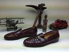 VINTAGE COLE HAAN BROWN LEATHER WEAVE SLIP ON DRIVING SHOES 8.5