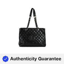 Chanel Acolchado Caviar Cuero Bolso de hombro Bolso grande GST Grand Shopper Cartera De Mano Negro