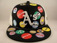 MLB Oakland Athletics New Era 59FIFTY Fitted Hat Cap Black White