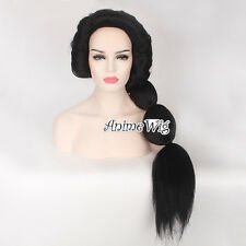 Cosplay For Aladdin Princess Jasmine Long Black Hair Women Ponytail Fashion Wig