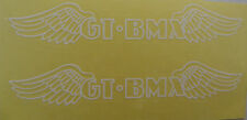 GT Decal Sticker BMX  White Wings Pair Park Street Racing Bikes Bicycle
