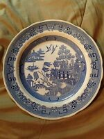 """The Spode Blue Room Collection Georgian Series """"Willow"""" Dinner Plate 10 1/2"""""""