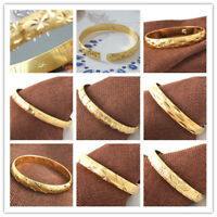 Unisex  Fashion Party Bangle Bracelet Engagement 18k Gold Filled Stamp Women