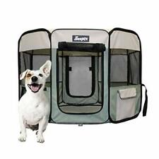 """New listing Jespet 36"""" Pet Dog Playpens, Portable Soft Dog Exercise Pen Kennel with Carry Ba"""