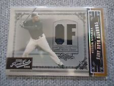 Vernon Wells 2005 Prime Cuts Game Used Jersey Card #15/50