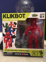 Stikbot Stickbot Klikbot Animation Action Figure Monster New Line Axil Zing Red