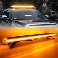"""30/"""" 47/"""" 55/"""" 72/"""" LED Emergency Strobe Light Bar Car Truck Beacon Warn Amber White"""