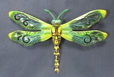 Dragon Fly Hand Painted Metal Wall Plaque Home Decor (C)