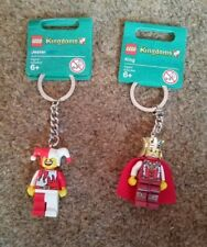 Lego Kingdoms - Jester and King Keychains Keyrings Castle - BRAND NEW