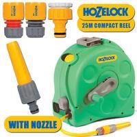 Hozelock 2415 2in1 Compact Enlocsed Reel & 25Metre Watering Gardening Hose Pipe