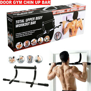 Doorway Pull Up Bar Chin Up Sit-Up Workout Exercise Fitness Gym Strength Body UK