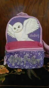 2001 Harry Potter Pink And Purple Hedwig Small Backpack School Bag