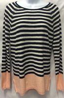 VINCE Sweater Cashmere Wool XS Raglan Striped $325 Pullover Women's