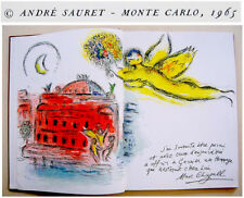 Original CHAGALL LITHOGRAPH + 6 MOURLOT Sorlier LITHOGRAPHS Art BOOK Paris OPERA