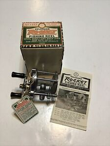 Vintage Pflueger 1355 Rocket Reel w/Box,hang tag and papers  Lot F22