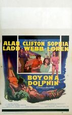 "BOY ON A DOLPHIN  ORIGINAL1957 MOVIE POSTER SOPHIA LOREN 14"" X 22""  FANTASTIC"