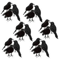 18pcs Foam Black Feathered Crows Birds Ravens Ornaments Halloween Decoration