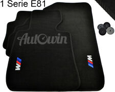 BMW 1 Series E81 2006-2011 Black Floor Mats With /// M Emblem Clip LHD Tailored