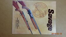 1981 Savage Arms Firearms gun catalog Fox Stevens