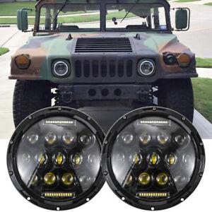 7'' inch LED Headlights For Truck Plug & Play M998 M923 M35a2 Humvee Headlamp US