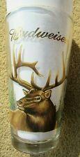 New listing Budweiser Beer Elk Wildlife Pint Glass Vg Cond Gold Rim Nice! Vintage Colorful