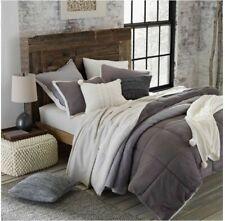 UGG Hudson Plush Reversible Sherba 3P King Comforter Set Gray NIP