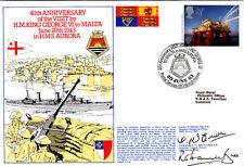 40th Anniv Visit of HM King George VI to Malta Signed R.D. Hamilton-Bate & D.Mc