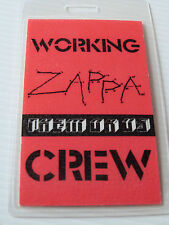 Frank Zappa & The Mothers Them Or Us Tour Laminated CREW Backstage Pass 1984