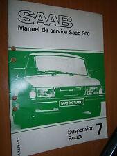 Saab 900 : manuel atelier partie 7 Suspension Roues 1979 à 1982
