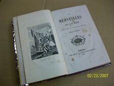 LES MERVEILLES DE LA MER - Histoire naturelle, pêche. 1872 .