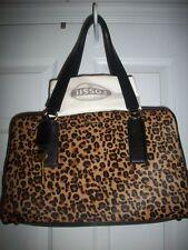 Fossil Memoir Leather HC Cheetah Large Satchel, NWT, Style ZB5429989
