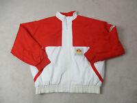 VINTAGE Adidas Jacket Adult 2XL XXL White Red Trefoil Airlock Testing Mens 90s *