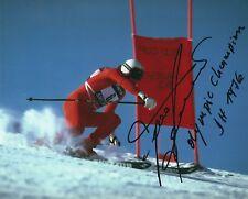 FRANZ KLAMMER SIGNED 8x10 PHOTO - UACC RD - DOWNHILL OLYMPIC GOLD + WORLD CHAMP