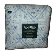 RALPH LAUREN Estella Blue Indian Batik 3P KING COMFORTER SET NEW COTTON