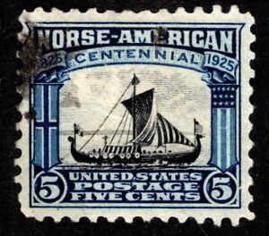 1925 US Scott #621 - 5c Norse-American single Used, SCV $9.00