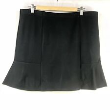 Target Womens Fit and Flare Skirt Size 16 Black Short  Ruffle Stretch Elastic