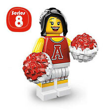 Lego Red Cheerleader Minifig with Pom Pom Series 8 8833