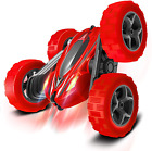 Toys Remote Control Car for Kids: Red 4WD Stunt RC Cars with 2 Rechargeable Batt