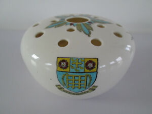 WH GOSS CRESTED CHINA FLOWER POT POURRI VASE KING'S COLLEGE WESTMINSTER LONDON