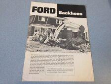 Ford Backhoes Brochure                  lw
