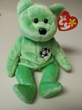 TY Beanie Baby Very Rare 1998 Kicks the Bear with 2 Tag Errors NO NUMBER STAMP