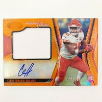 Clyde Edwards Helaire RPA /299 Orange SP 2020 Panini Certified Chiefs