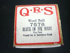 QRS Q.R.S - PLAYER PIANO MUSIC ROLL - 7576 BLUES IN THE NIGHT - NEW OPEN BOX