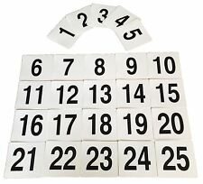 Wedding Event Party Table Number Plastic Place Cards 1-25. Double sided