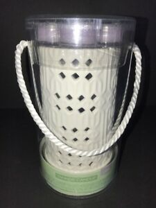 "Yankee Candle LEMON LAVENDER Luminary Tea Light Holder 7"" with 4 Tea Light NEW"