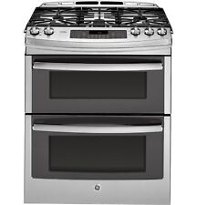 """GE PGS950SEFSS Profile™ Series 30"""" Slide-In Front Control Double Oven Gas Range"""