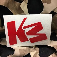 New Km Paintball Logo Sticker - Red