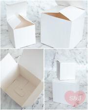 50x White 5 6 7 8 9 10cm Wedding Party Cardboard Favour Bomboniere Plain Boxes